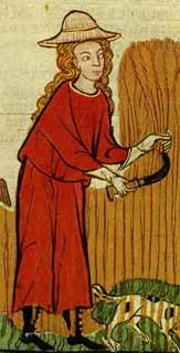 Tf. 125 Kunz von Rosenheim Dame als Schnitterin