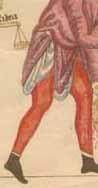 Beinlinge im Hortus Deliciarum (Nachzeichnung)