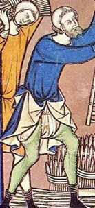 Beinlinge in der Maciejowski-Bibel um 1250