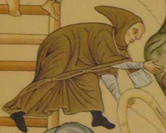 lange Cappa im Hortus Deliciarum um 1180