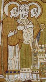 seidengestickter Wandbehang Niedersachsen um 1160-1170