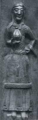 Bronzetür von Nowgorod ca. 1152 - Darstellung des Nikodemus(?)