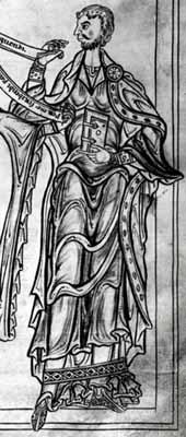 Priscianus aus dem Münchner Codex 2599 von 1200