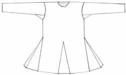 Cotte körpernahe Form