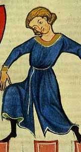 Cotten im Codex Manesse - 13. Jhd. deutlich sichtbarer Reitschlitz
