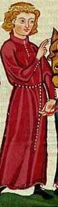 Cotte im Codex Manesse - 13. Jhd. Stehkragen und Knöpfe an Unterarm und Halsausschnitt