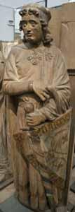 Naumburger Stifterfiguren - ca. 1240 Ekkehard in Cotte Gips-Nachbildungen der Original-Figuren aus dem Naumburger Dom