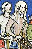 Kopftücher und andere Kopfbedeckungen in der Maciejowski-Bibel, ca.1250