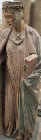 Naumburger Stifterfiguren (Gipsabgüsse) Gepa (Bertha) – um 1240 deutlich sind die reversartigen Umschläge