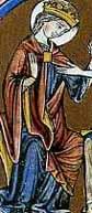 Mantel mit Stoff futter und Fibelverschluss – Bible Moraliseé um 1230