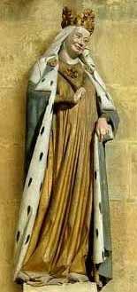 Kaiserin Adelheid in herme- lingefüttertem Tasselmantel Naumburger Meisterwerkst. Meißner Dom; um 1260