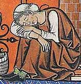 Frau in Halbschuhen Maciejowski-Bibel um 1250