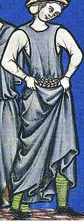 Halbschuhe in der Maciejowski-Bibel um 1250