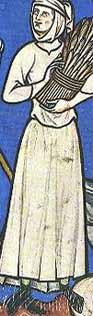 Knöchelhohe Schuhe in der Maciejowski-Bibel um 1250