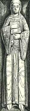 Grabplatte der Quedlinburger Äbtissin Beatrix ca. 1129