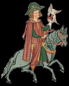 Herr Ulrich von Gutenberg Codex Manesse - 13. Jhd.