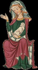 Codex Manesse Dame sitzend Seite 191