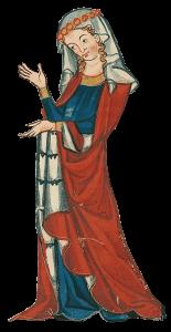 Codex-Manesse Dame Seite v215