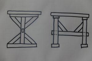 Unser Mark Meissen Tisch - der erste Entwurf