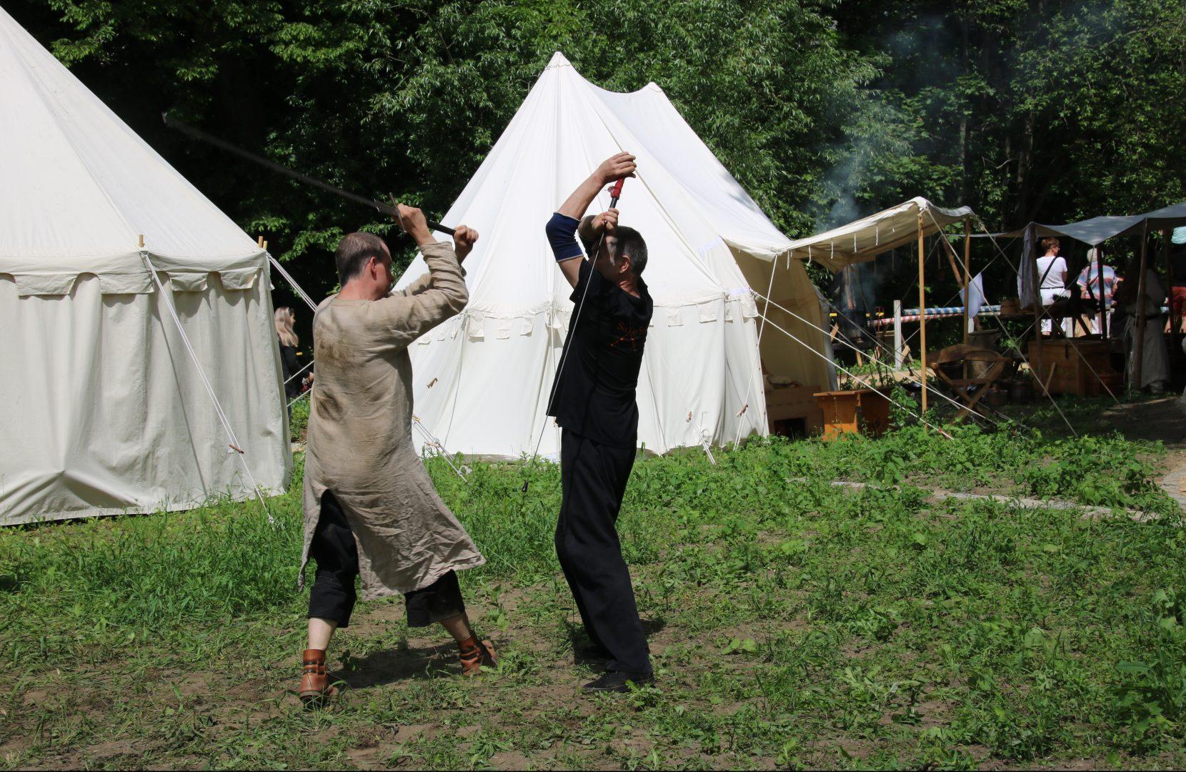 Schwertkampftraining mit Saxenstreich