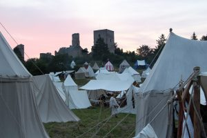Das Zeltlager vor der Brandenburg